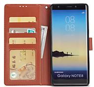 Hülle Für Samsung Galaxy Note 8 Geldbeutel Kreditkartenfächer mit Halterung Flipbare Hülle Handyhülle für das ganze Handy Volltonfarbe