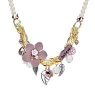 Жен. Заявление ожерелья В форме цветка Сплав Богемные Милая Бижутерия Назначение Для вечеринок