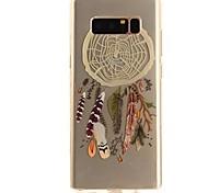 Недорогие -Кейс для Назначение SSamsung Galaxy Note 8 Ультратонкий Прозрачный С узором Кейс на заднюю панель Ловец снов Мягкий ТПУ для Note 8 Note 5