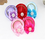 The Pet Headdress Is A Pack Of  Five Bow-knot Puppies And Pet Accessories / Pet Clothes Party Casual / Bowknot Random Color