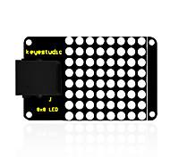 Недорогие -keyestudio easy plug iic i2c 8 * 8 светодиодный матричный дисплей для arduino