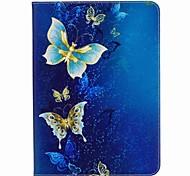 бабочка шаблон карты держатель кошелек с подставкой флип магнитный кожаный чехол pu для Samsung Galaxy Tab s3 wifi / lte t820 t825