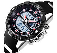 cheap -Men's Casual Watch Japanese Quartz Alarm Calendar / date / day Chronograph Water Resistant / Water Proof Dual Time Zones Stopwatch