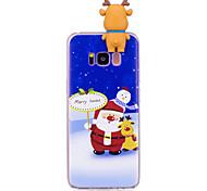 Кейс для Назначение SSamsung Galaxy S8 Plus S8 С узором Своими руками Задняя крышка 3D в мультяшном стиле Рождество Мягкий TPU для S8 S8