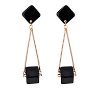 Women's Drop Earrings Multi-stone Fashion Personalized Resin Alloy Square Jewelry For Daily Going out