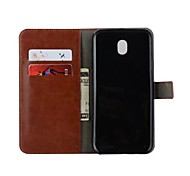 cheap -Case For Samsung Galaxy J3 (2017) J3(2016) Card Holder Wallet Flip Full Body Cases Solid Color Hard PU Leather for J7 (2017) J7 (2016) J7
