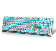 cheap -AJAZZ AK33I Wired Monochromatic Backlit Red Switches Brown Switches 108 Mechanical Keyboard Backlit
