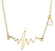abordables -Mujer Collares con colgantes Joyas Forma de Corazón Forma Geométrica Chapado en Oro Legierung Geométrico Moda Joyas Para Casual Calle