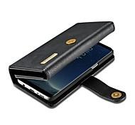 Кейс для Назначение SSamsung Galaxy S8 Plus S7 edge Кошелек Бумажник для карт Флип Чехол Сплошной цвет Твердый Натуральная кожа для S8 S8