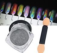 Недорогие -1pc 0.5g ультратонкий маникюр 7 цвет серебряный волшебный зеркальный порошок