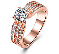 Women's Engagement Ring Band Rings Crystal Zircon Alloy Round Heart Jewelry For Wedding Party Birthday Engagement Gift Daily Casual
