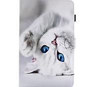 cheap -Case For Samsung Galaxy Tab A 9.7 Tab A 8.0 Card Holder with Stand Flip Magnetic Pattern Full Body Cases Cat Hard PU Leather for Tab E