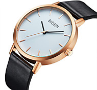 Men's Casual Watch Fashion Watch Quartz Genuine Leather Band Casual Minimalist Cool As Picture