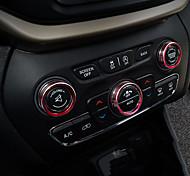 Automotivo Coberturas de pilha central Gadgets de Interior Personalizáveis para Carros Para Jeep Todos os Anos Cherokee Metal