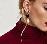 cheap -Women's Drop Earrings Hoop Earrings Imitation Pearl Classic Vintage Casual Fashion Elegant Imitation Pearl Glass Flannel Alloy Geometric