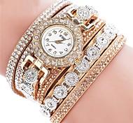 Women's Kid's Fashion Watch Simulated Diamond Watch Bracelet Watch Chinese Quartz Chronograph PU Band Sparkle Elegant Casual Black White