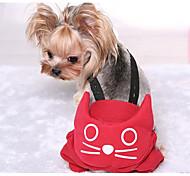 Недорогие -Собака Брюки Одежда для собак Хлопок Зима Весна/осень На каждый день Однотонный Серый Красный Костюм Для домашних животных