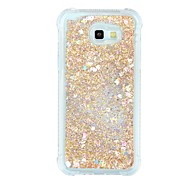 Case For Samsung Galaxy A7(2017) A5(2017) Shockproof Flowing Liquid Transparent Back Cover Transparent Glitter Shine Soft TPU for