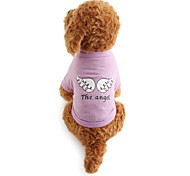 cheap -Dog Shirt / T-Shirt Dog Clothes Letter & Number Cotton Costume For Pets