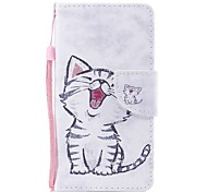 cheap -Case For Apple Ipod Touch5 / 6 Case Cover Card Holder Wallet with Stand Flip Pattern Full Body Case  Red-billed Cat Hard PU Leather