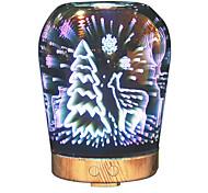 Hhy Newest 3D Effect Art Glass Led Light Best Gift Fragrant Humidifier - Beauty Gauge