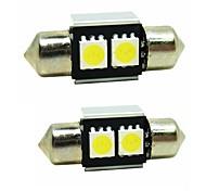 cheap -Sencart 2pcs 31mm Festoon LED Bulb 5050SMD LED Interior Map Dome Door Lights Bulbs 12V