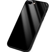 Кейс для Назначение Apple iPhone X Зеркальная поверхность Задняя крышка Сплошной цвет Твердый Силикон для iPhone X iPhone 8 Plus iPhone 8