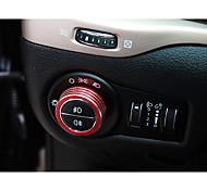 Automotivo Tampa dos botões do farol Gadgets de Interior Personalizáveis para Carros Para Jeep Todos os Anos Cherokee liga de alumínio