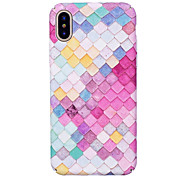 cheap -Case For Apple iPhone X iPhone 8 Glow in the Dark Pattern Embossed Back Cover Geometric Pattern Hard PC for iPhone X iPhone 8 Plus iPhone