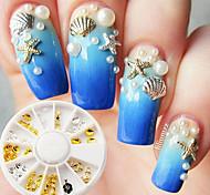 abordables -1 pcs Métallique / Mode Nail Art Design Quotidien