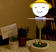 1pc Touch Sensor USB Powered LED Night Light Scarecrow Shape Warm White/White With 2 USB Ports