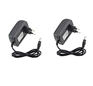 cheap -2pcs 12V US EU Power Adapter ABS+PC for LED Strip light