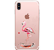 For iPhone X iPhone 8 iPhone 7 iPhone 7 Plus iPhone 6 Case Cover Ultra-thin Pattern Back Cover Case Flamingo Soft TPU for Apple iPhone X