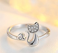 Жен. Классические кольца Кольцо на кончик пальца Цирконий На каждый день Мультяшная тематика Милая Милый Мода Циркон Медь Геометрической