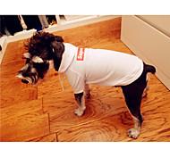 Недорогие -Собака Толстовки Одежда для собак Стиль Однотонный Белый Черный Костюм Для домашних животных