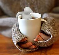 Недорогие -1pc милый mr.tea мешок teabag силиконовый чай лист сетчатый инфузор сумка чайник фильтр drinkware маленький человек форму