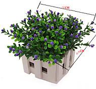 Недорогие -22см 6 шт. Мини-6 цветов пластиковые миланские цветы