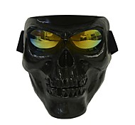 cheap -Plastic Halloween Protective Skull Skeleton Mask Outdoor Full Face