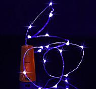abordables -BRELONG® Cuerdas de Luces 10 LED Blanco Cálido Blanco Morado Verde Azul Impermeable <5V