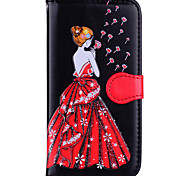 cheap -Case For Samsung Galaxy J5 (2017) J3 (2017) Card Holder Flip Pattern Embossed Sexy Lady Glitter Shine Hard for