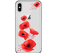Für iPhone X iPhone 8 Hüllen Cover Transparent Muster Rückseitenabdeckung Hülle Cartoon Design Blume Weich TPU für Apple iPhone X iPhone