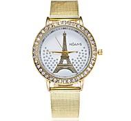 Недорогие -Жен. Модные часы Нарядные часы Наручные часы Китайский Кварцевый Имитация Алмазный Металлический сплав Группа Роскошь На каждый день