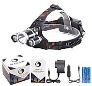 Headlamps Bike Lights Headlight LED 4000,5000,5300 lm 4 Mode 3XCree XM-L T6 Cree XM-L U2 Rechargeable Waterproof for Camping/Hiking--2x18650