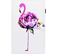 abordables -Funda Para Samsung Galaxy Tab S2 9.7 Tab A 10.1 (2016) Soporte de Coche con Soporte Flip Diseños Cuerpo Entero Flamenco Dura Cuero