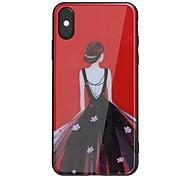 Недорогие -Кейс для Назначение Apple iPhone X iPhone 8 Plus Зеркальная поверхность С узором Задняя крышка Соблазнительная девушка Твердый Акриловое
