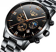 cheap -Men's Automatic self-winding Mechanical Watch Japanese Calendar / date / day / Chronograph / Water Resistant / Water Proof / Moon Phase /