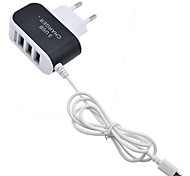 cheap -Portable Charger Phone USB Charger EU Plug Multi Ports 3 USB Ports 3.1A AC 100V-240V For Cellphone