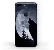 Недорогие -1 ед. Наклейки для Защита от царапин Черный и белый Узор Матовое стекло PVC iPhone 7 Plus