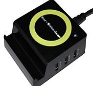 Недорогие -Беспроводное зарядное устройство Телефон USB-зарядное устройство USB Беспроводное зарядное устройство Qi 3 USB порта 1A DC 5V iPhone X