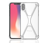 abordables -Funda Para Apple iPhone X iPhone 8 Antigolpes Marco Antigolpes Armadura Dura Metal para iPhone X iPhone 8 Plus iPhone 8 iPhone 7 Plus